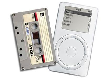 el cassette versus el ipod