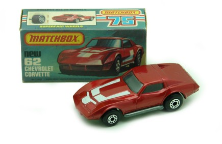 corvette rojo matchbox
