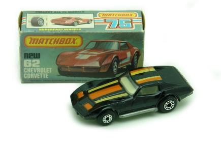 corvette juguete matchbox negro