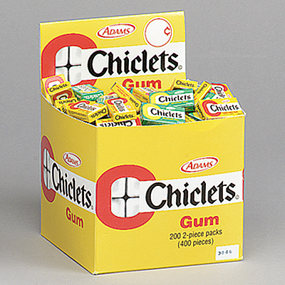 chicles adams chiclets adams