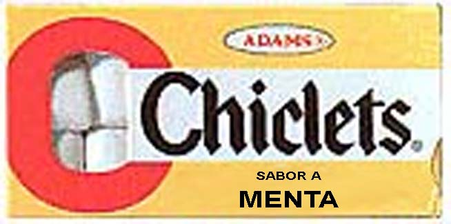 chiclets adams menta