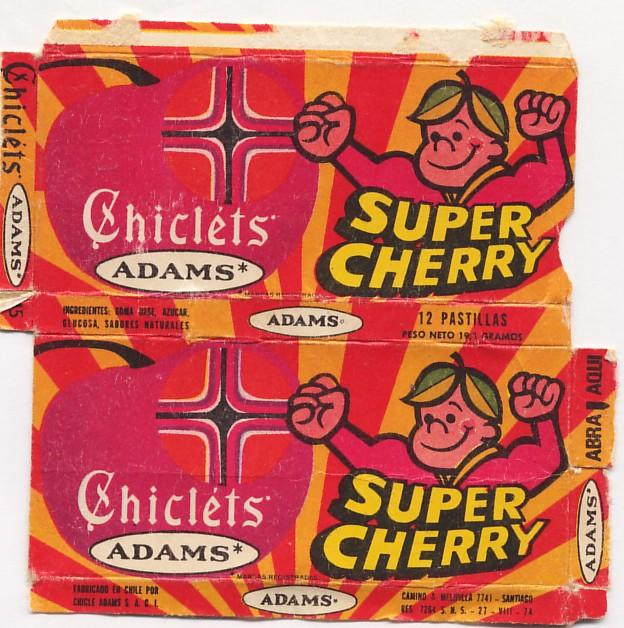 chicles adams supercherry