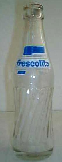botella frescolita azul