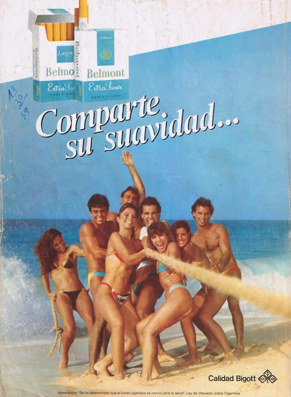 publicidad ochentosa de belmont en revista