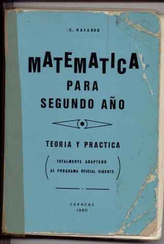 libro de matermáticas de navarro version 1980