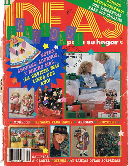 revista ideas de navidad de los ochentas