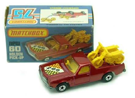 camioneta motos matchbox 1977