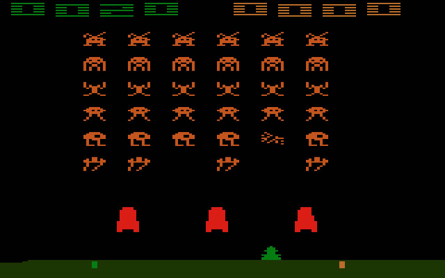 space invaders atari pantallazo