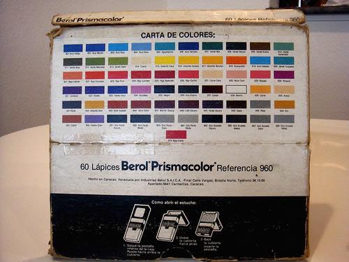 caja creyones berol prismacolor 3