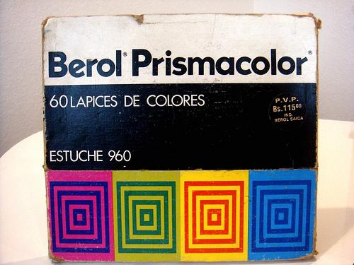 caja berol prismacolor de frente
