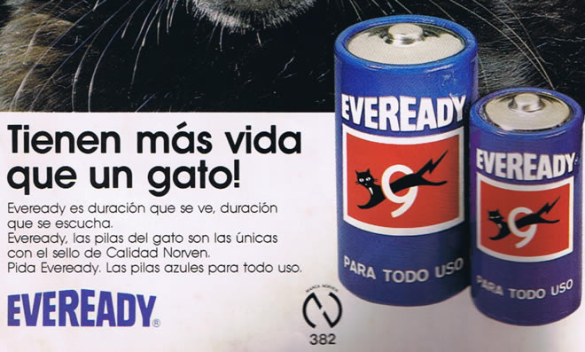 pilas eveready