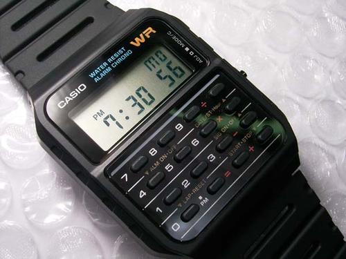 reloj calculadora CASIO de los ochentas