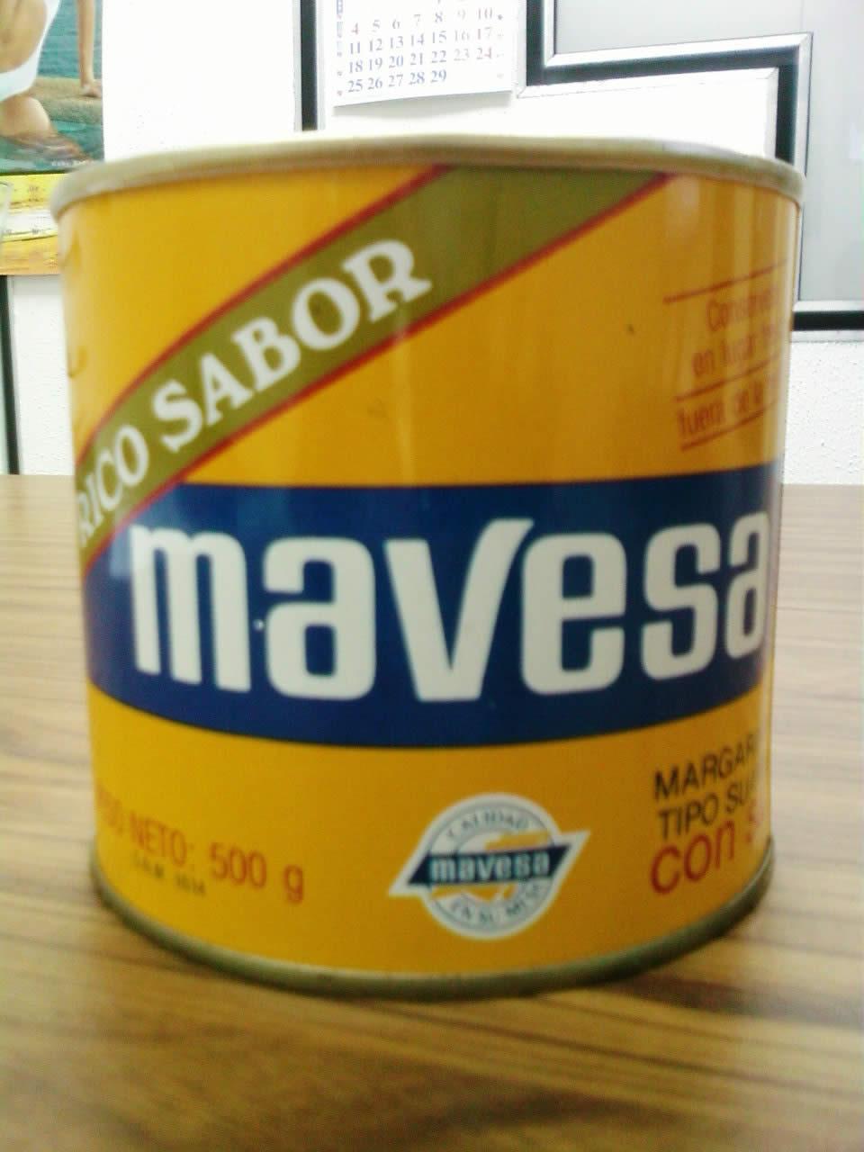 margarina mavesa en lata de los ochentas