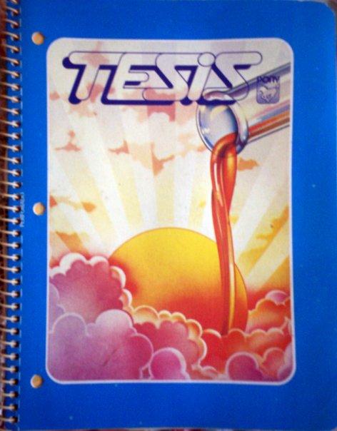 cuaderno tesis de los ochentas