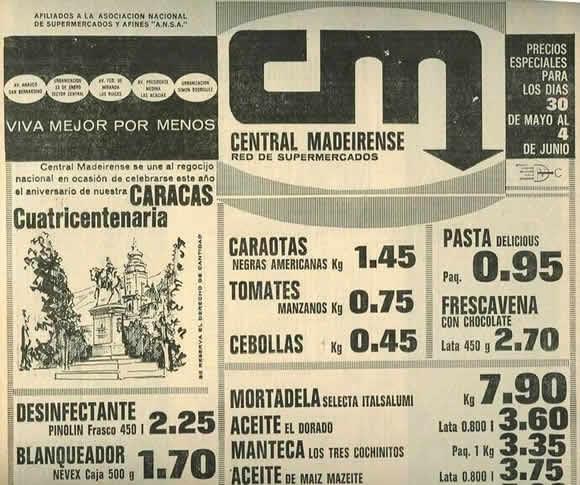 precios de central madeirense antiguos
