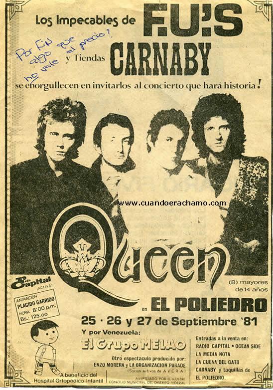 queen concierto en venezuela
