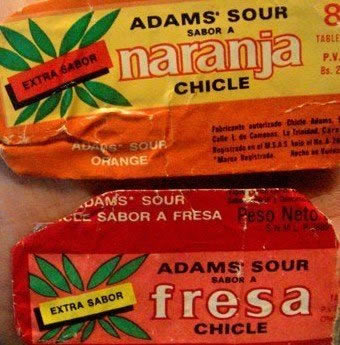 Chiclets Adams Sour