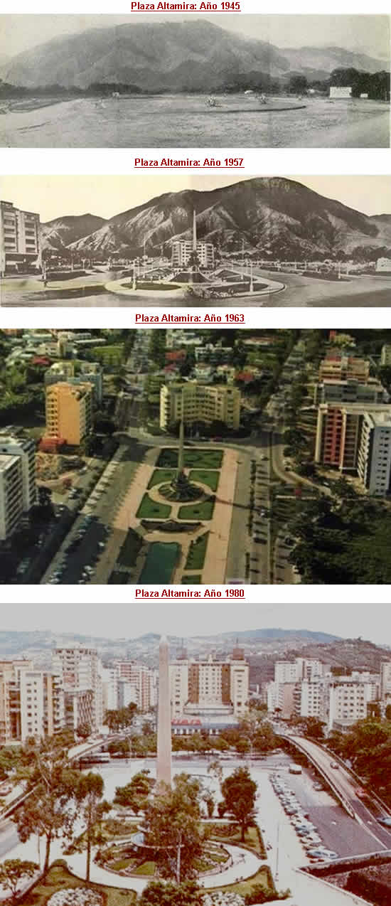 plaza altamira de caracas: evolución histórica