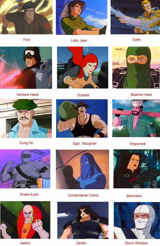 personajes principales gijoe