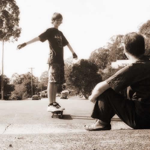 mi patineta y mi papá