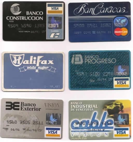tarjetas de credito bancos venezuela ochentas y noventas