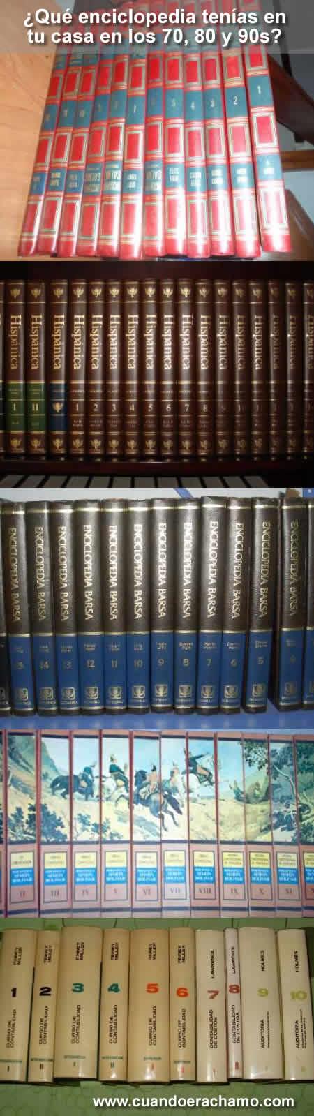 enciclopedias de los 70, 80 y 90