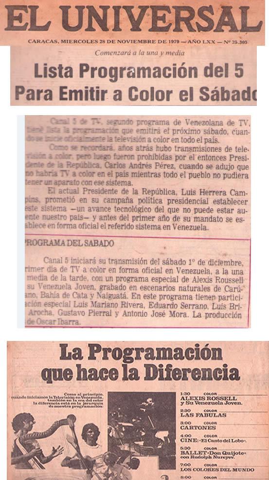 televisión a color en Venezuela