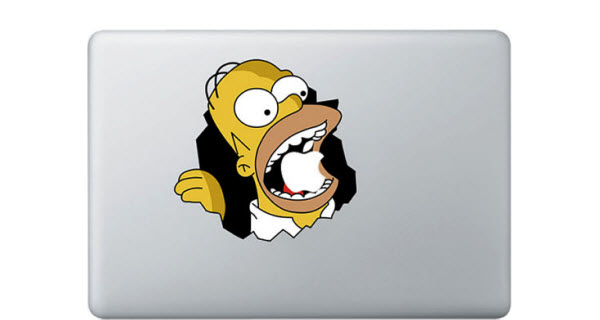 calcomania mac homero