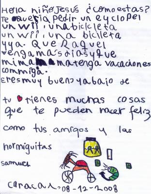 Carta al niño Jesús