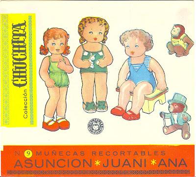Muñecas recortables antiguas
