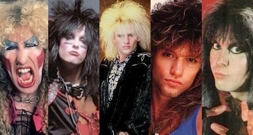 peinados rockeros 80s