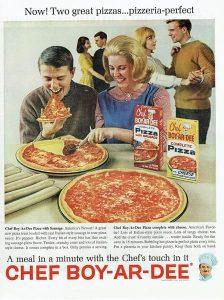 publicidad pizza retro