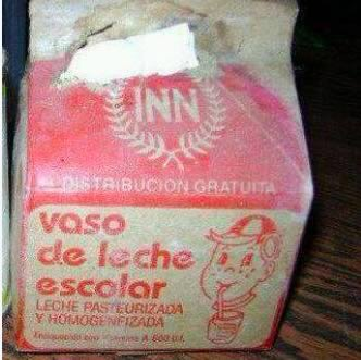 cuartico de leche escolar