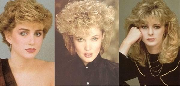 Moda de los 80 mujeres peinados
