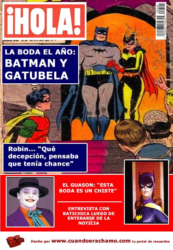 La boda de Batman con Gatubela